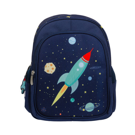 A Little Lovely Company Rucksack Space blau Polyester 27x32x15cm