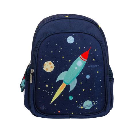 A Little Lovely Company Sac à dos Space polyester bleu 27x32x15cm