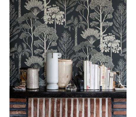 Ferm Living Wallpaper Katie Scott trees Deep Petrol blue 10x0.53m