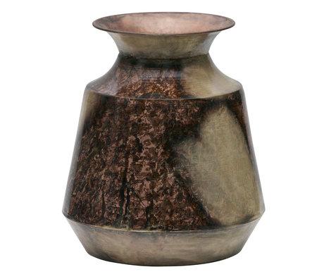 BePureHome Vase Spot auf L Gold Kupfer Metall 25x25x29cm