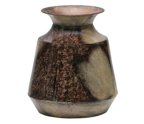 BePureHome Vase Spot sur L métal cuivré doré 25x25x29cm