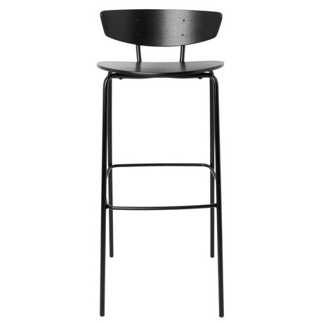Ferm Living Tabouret de bar Herman High black wood metal 43x40,5x96cm