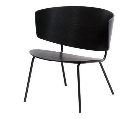 Ferm Living Lounge Chair Herman black metal timber 68x68x60cm