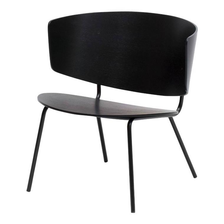 Zwarte Lounge Stoel.Ferm Living Loungestoel Herman Zwart Hout Metaal 68x68x60cm
