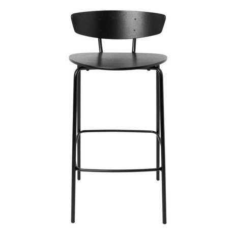 Ferm Living Bar stool Herman Low black wood metal 39,5x39,5x83,5cm