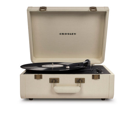 Crosley Radio Portfolio - Cream 41.5x44x20.5cm