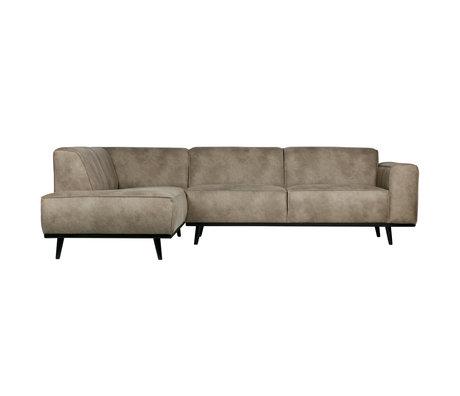 BePureHome corner sofa statement left elephant skin gray leather 74x210x77cm
