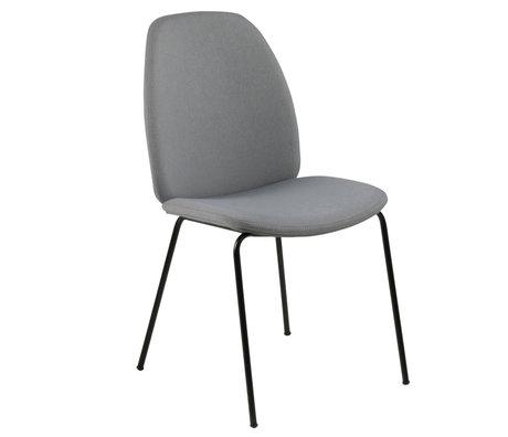wonenmetlef Chaise de salle à manger Charlie gris clair 13 Ville textile textile 48.5x63x87.5cm