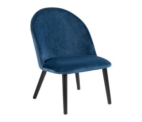 wonenmetlef Fauteuil Lou navy blauw 66 VIC textiel metaal 60x70x81cm
