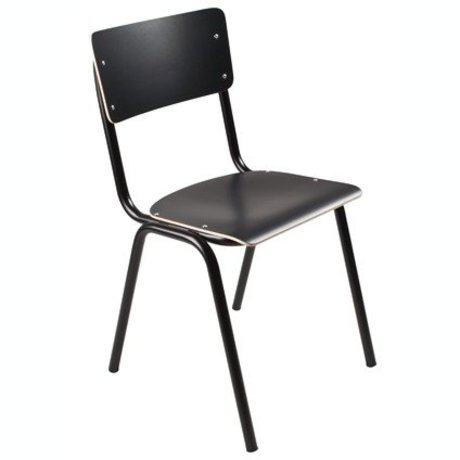 Zuiver Chair Back to school schwarz 43x38x83