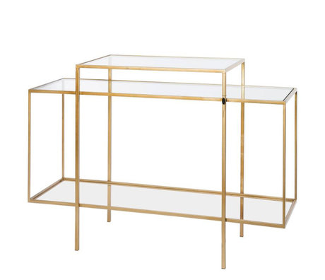 Riverdale Amaro Gold Metall Glas Sideboard 37x120x88,5 cm