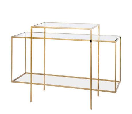 Riverdale Buffet Amaro en verre doré 37x120x88,5 cm