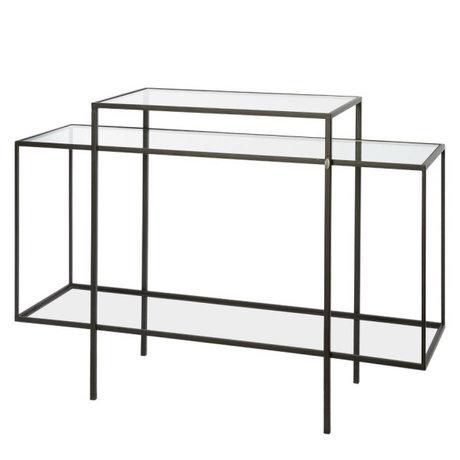 Riverdale Dresser Amaro black metal glass 120cm