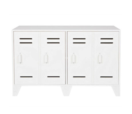 LEF collections placard Cabinet casier Stijn blanc 65x103x40cm bois