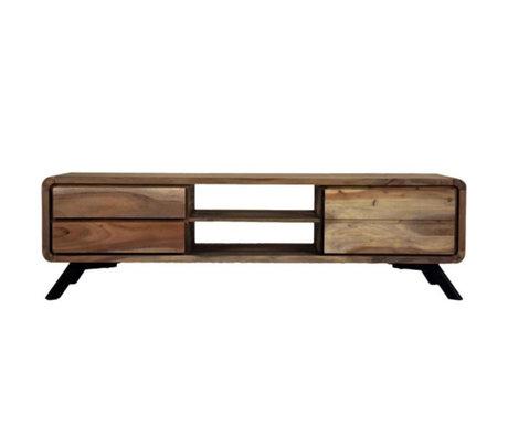 LEF collections TV-Schrank Havana braun Holz Metall 160x45x46cm