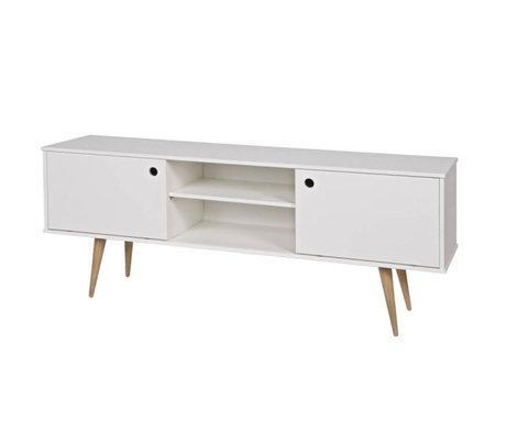 LEF collections Tv furniture retro white pine 150x38x60cm