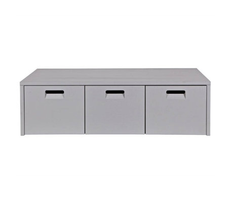 vtwonen Aufbewahrungsbank Shop grau Kiefer 120x50x36cm