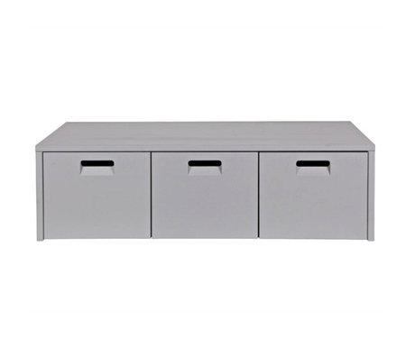 vtwonen Banc de rangement magasin gris 120x50x36cm pin