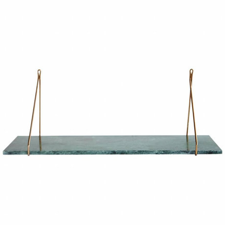 Housedoctor Marble wall shelf, green marble 24x70 cm