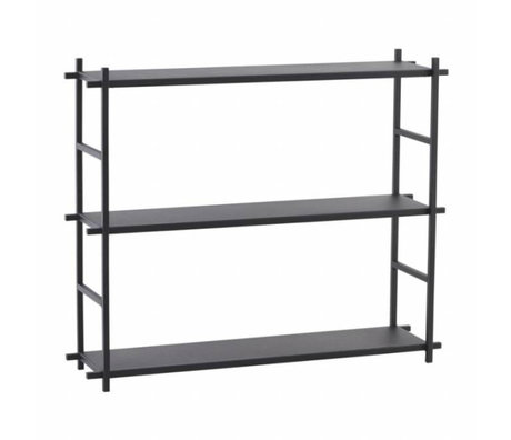 Housedoctor Shelving cabinet Simple black metal 60x15x50cm