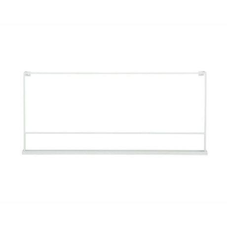 vtwonen Porte-plaque métallique blanc 80x5x37cm
