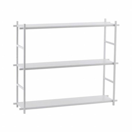 Housedoctor Shelving cabinet Simple white metal 60x15x50cm