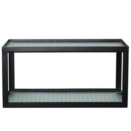 Ferm Living Wallboard Haze black metal frame with wired glass 17x35x19cm