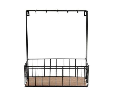 pt, Küchenregal schwarz Metall 36x30x15cm