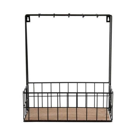 pt, Kitchen rack black metal 36x30x15cm