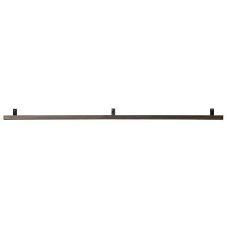 vtwonen Wandplank grijs metaal 120x7,5x2,5cm