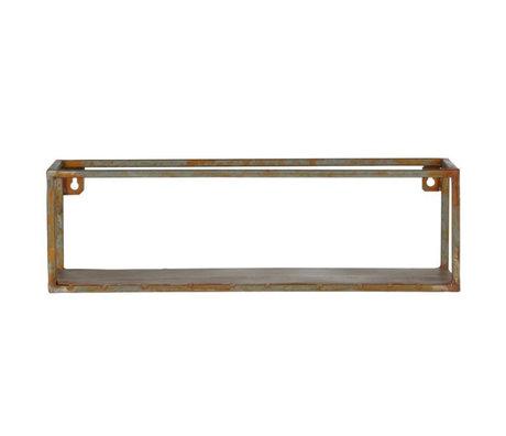 BePureHome Wandregal Weldone Rostorange Metall 15x50x15cm