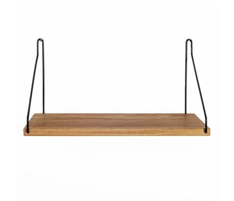 Frama Boekenplank zwart staal eikenhout 40x20cm