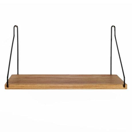Frama Bookshelf black steel oak 40x20cm