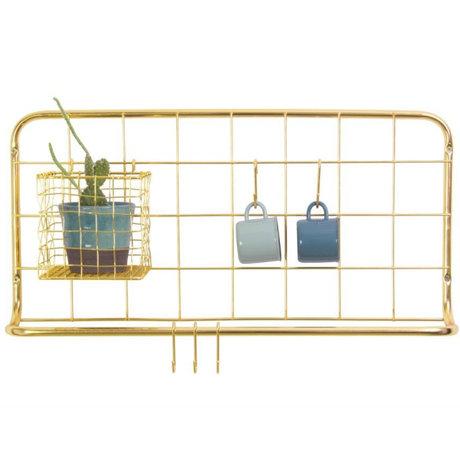 pt, Kitchen rack gold iron 60x30x5cm