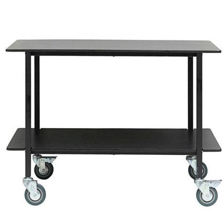 Housedoctor Trolley Vene noir bois fer 100x60x70cm