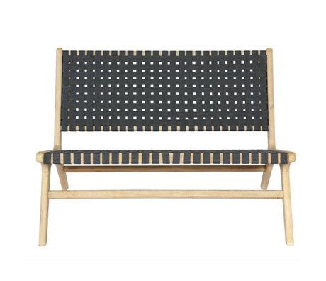 vtwonen Tuinbank Frame antraciet grijs hout 110x81x77cm