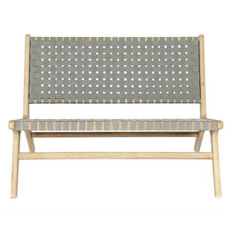 vtwonen Garden bench Frame olive green wood 110x81x77cm