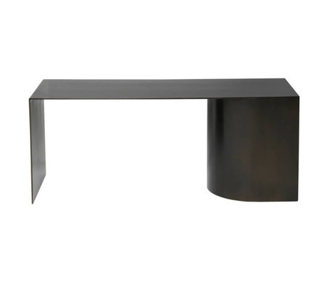 Ferm Living Banc Place acier noir 110x40x45cm