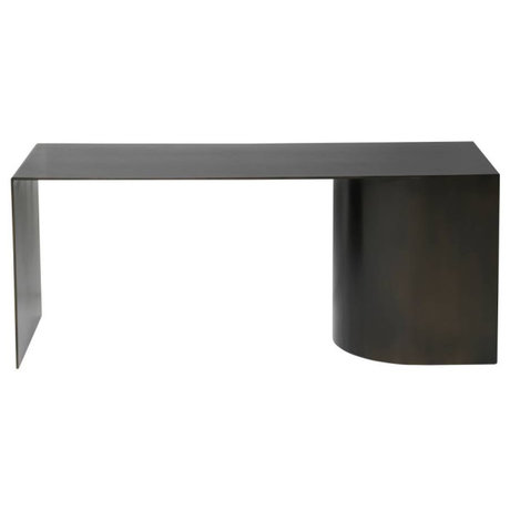 Ferm Living Sitzbank aus schwarzem Stahl 110x40x45cm