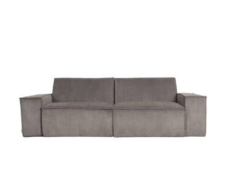 Zuiver Sofa James 2-Sitzer graues Rippengewebe 224x91x74cm