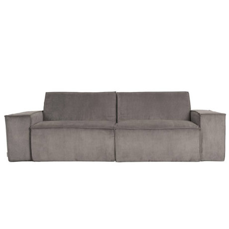 Zuiver Sofa James 2-seater gray rib fabric web 224x91x74cm