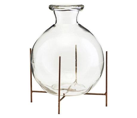 Housedoctor Vase avec verre standard Lana Ø15x17cm en métal