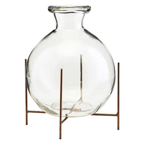 Housedoctor Vase with standard Lana glass metal Ø15x17cm