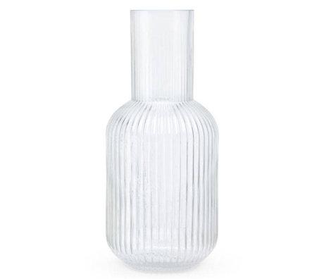 FÉST Vase Otis en verre transparent L Ø15x34cm