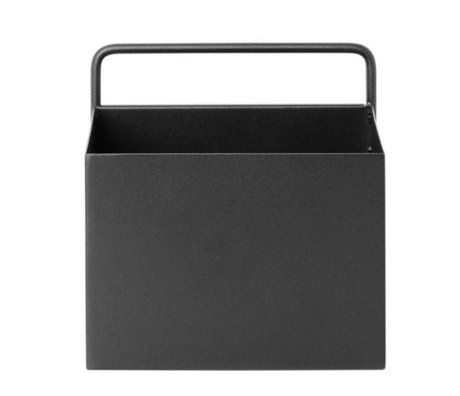 Ferm Living Plant box Wall Square black metal 15.6x14.6x15.6cm