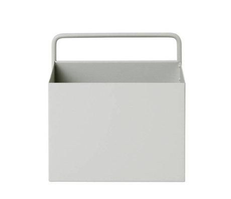 Ferm Living Plant box Wall Square light gray metal 15,6x14,6x15,6cm