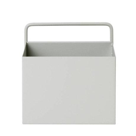 Ferm Living Plant box Wall Square lichtgrijs metaal 15,6x14,6x15,6cm