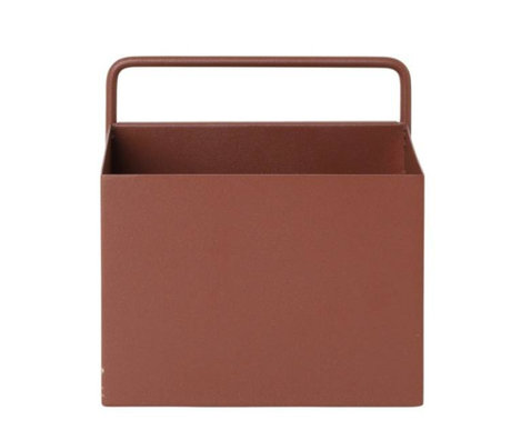 Ferm Living Plant box Wall Square red brown metal 15.6x14.6x15.6cm