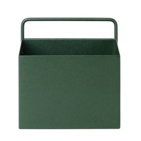 Ferm Living Plant box Wall Square donkergroen metaal 15,6x14,6x15,6cm