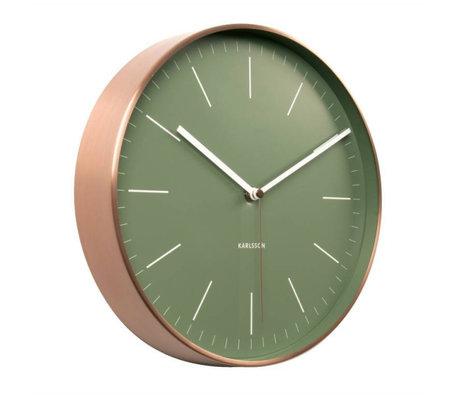 Karlsson Wanduhr Minimal grün Kupfer Stahl Ø27,5cm